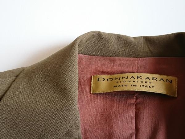 ダナキャランシグネチャー スカートスーツ サイズ7 S レディース ブラウンカーキ