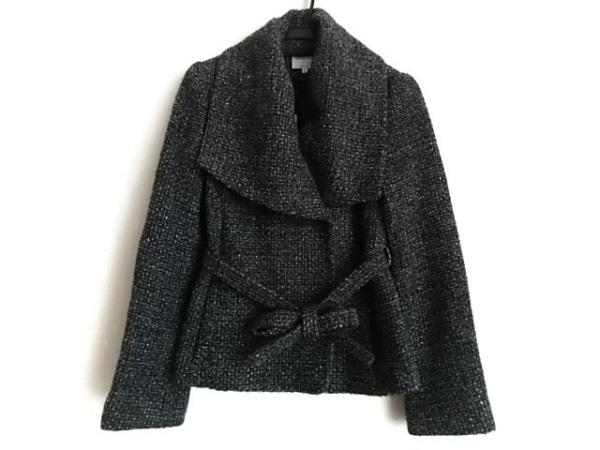 アルマーニコレッツォーニ コート サイズ40 M レディース 黒×グレー