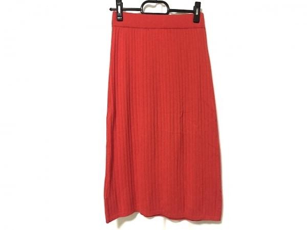 three dots(スリードッツ) スカート サイズS レディース レッド ニット