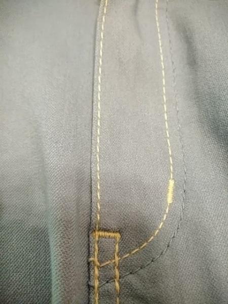 ビースリー パンツ サイズ32 XS レディース ライトブルー×白 刺繍/ストレッチ素材
