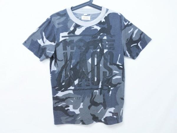 ディーゼル 半袖Tシャツ サイズS メンズ ダークグレー×グレー×ライトグレー×黒