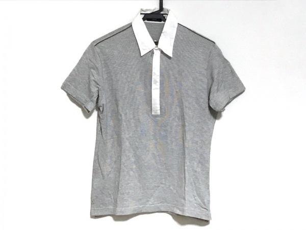 EPOCA(エポカ) 半袖Tシャツ サイズ46 XL メンズ グレー×白 UOMO