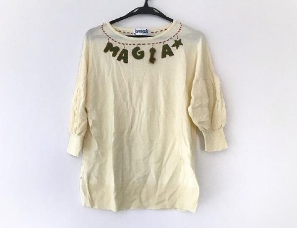 JOCOMOMOLA(ホコモモラ) 七分袖セーター サイズ40 XL レディース美品