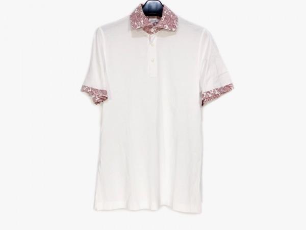 Brioni(ブリオーニ) 半袖ポロシャツ サイズS レディース 白×レッド×マルチ