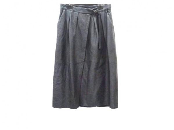 フォルテフォルテ 巻きスカート サイズ2 M レディース ダークグリーン レザー