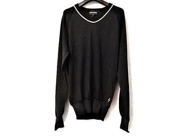EMPORIOARMANI(エンポリオアルマーニ) 長袖セーター サイズ50 M メンズ美品  黒