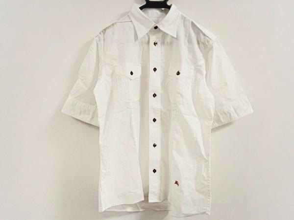 dec449ea2a72b5 バーバリーブラックレーベル 半袖シャツ サイズ3 L メンズ美品 白の中古 ...