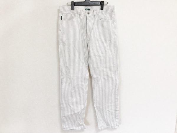 PaulSmithJEANS(ポールスミスジーンズ) パンツ サイズ32 XS メンズ 白×黒 ストライプ