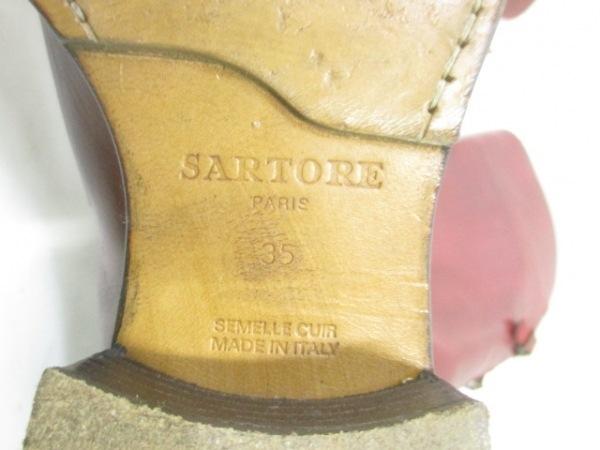 SARTORE(サルトル) ロングブーツ 35 レディース レッド レザー