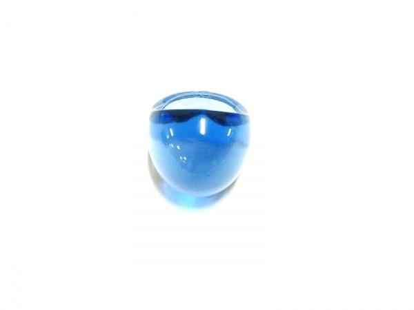 LALIQUE(ラリック) リング美品  クリスタル ブルー×クリア