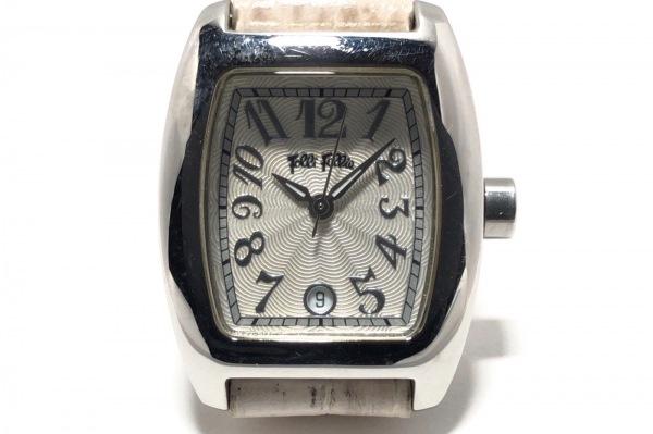 FolliFollie(フォリフォリ) 腕時計 - レディース 型押し革ベルト アイボリー
