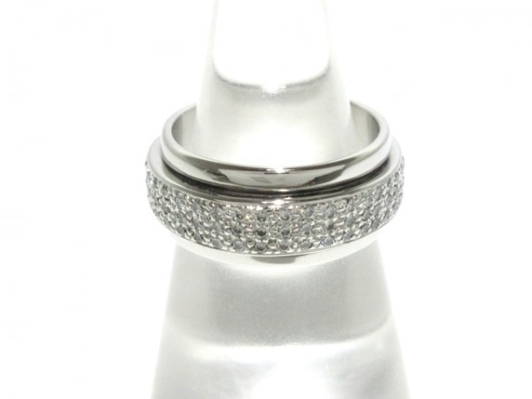 PIAGET(ピアジェ) リング 52美品  ポセションリング K18WG×ダイヤモンド