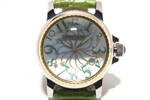 Ritmo Latino(リトモラティーノ) 腕時計 - メンズ 革ベルト/型押し加工 白