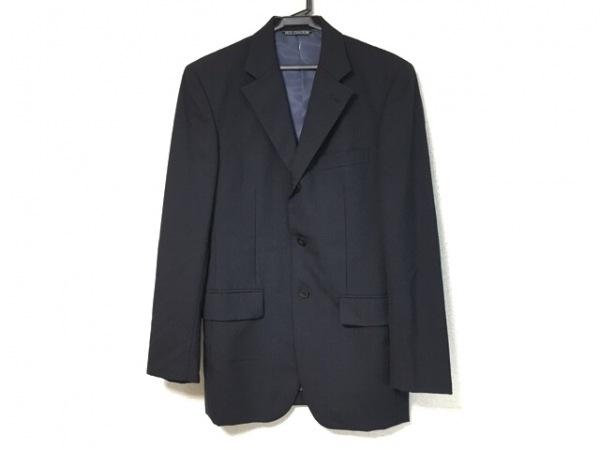 ヨシユキコニシ ジャケット サイズFIC2 メンズ 黒×ブルー ストライプ