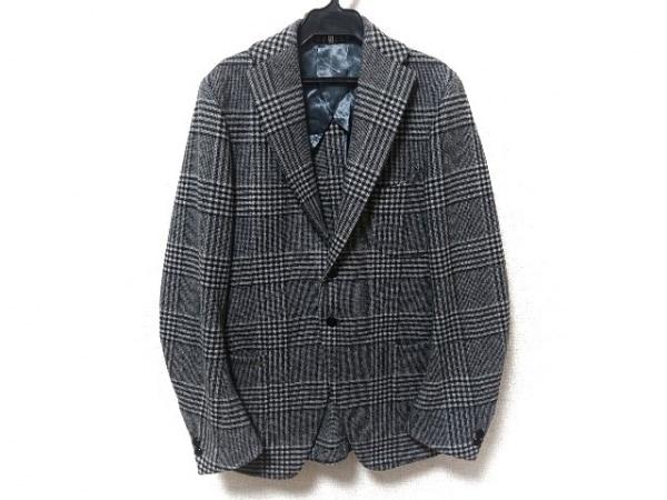 エムズブラック ジャケット サイズ38 M メンズ新品同様  グレー×黒×アイボリー