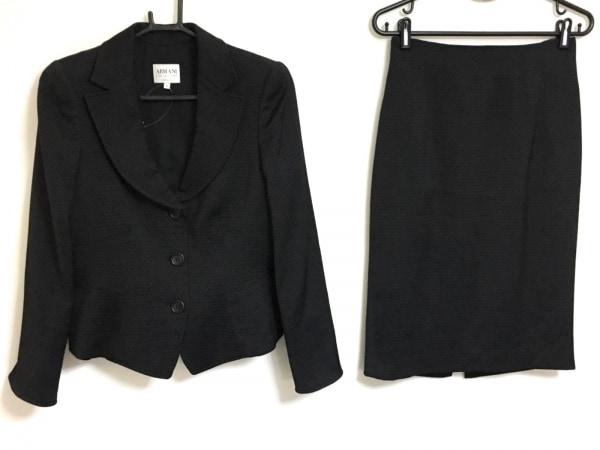 アルマーニコレッツォーニ スカートスーツ サイズ40 M レディース 黒 ドット柄