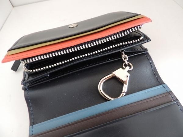 PaulSmith(ポールスミス) 2つ折り財布美品  黒 キーリング付き レザー