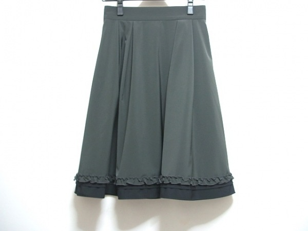 FOXEY NEW YORK(フォクシーニューヨーク) スカート サイズ38 M レディース 黒 フリル