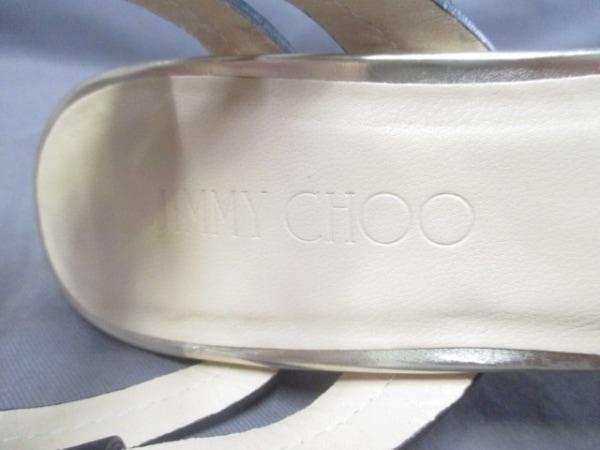 JIMMY CHOO(ジミーチュウ) サンダル 37 レディース 黒×ゴールド レザー