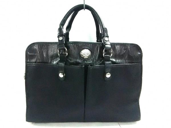 OROBIANCO(オロビアンコ) ビジネスバッグ美品  黒 ナイロン×レザー
