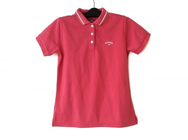 CALLAWAY(キャロウェイ) 半袖ポロシャツ サイズM レディース ピンク×白