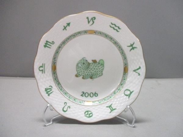 Herend(ヘレンド) プレート新品同様  白×グリーン 2006 陶器