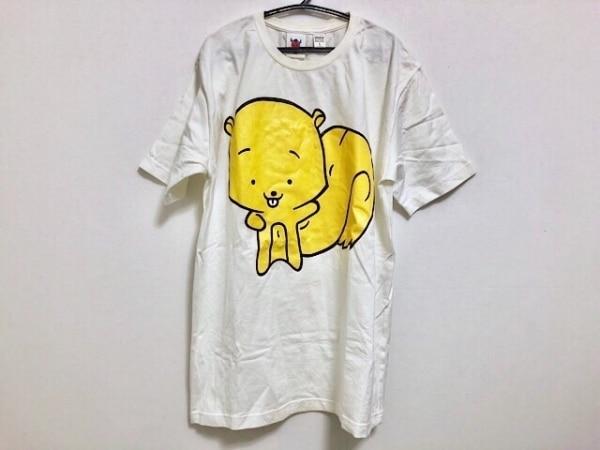 PHENOMENON(フェノメノン) 半袖Tシャツ サイズL メンズ 白×イエロー×黒