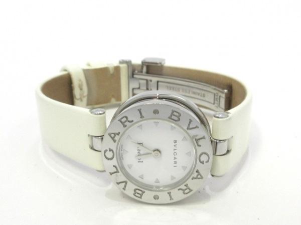 BVLGARI(ブルガリ) 腕時計 B-zero1 BZ22S レディース SS/革ベルト 白