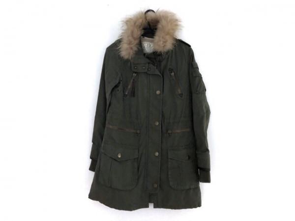 Noela(ノエラ) コート サイズ38 M レディース カーキ×ライトブラウン 冬物