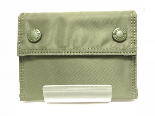 THE NORTH FACE(ノースフェイス) 3つ折り財布 カーキ ナイロン