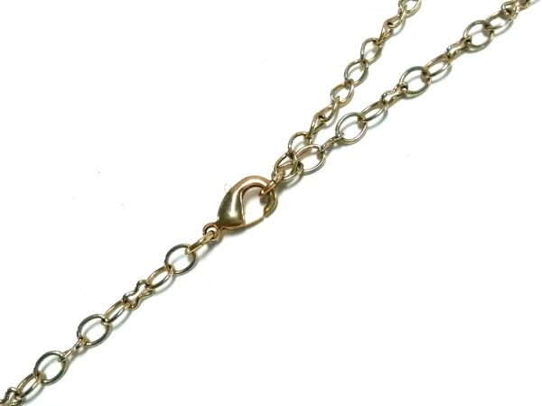 TOCCA(トッカ) ネックレス 金属素材×プラスチック ゴールド×ピンク