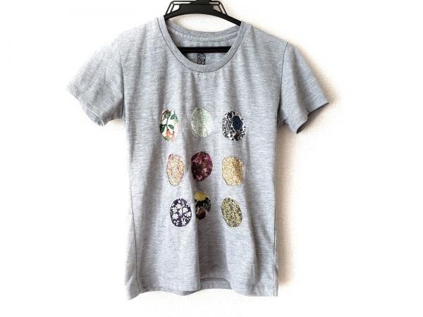 Cou Pole(クーポール) 半袖Tシャツ レディース グレー×マルチ