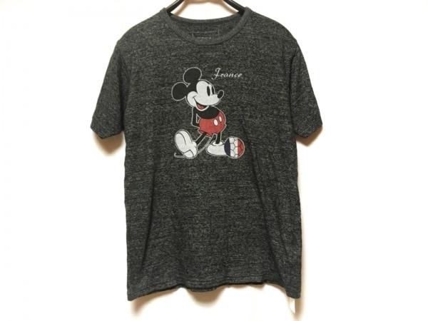 ソフネット 半袖Tシャツ サイズM メンズ ダークグレー ×Disney/ミッキーマウス