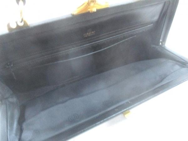 madler(マドラー) ハンドバッグ 黒×ゴールド がま口 レザー