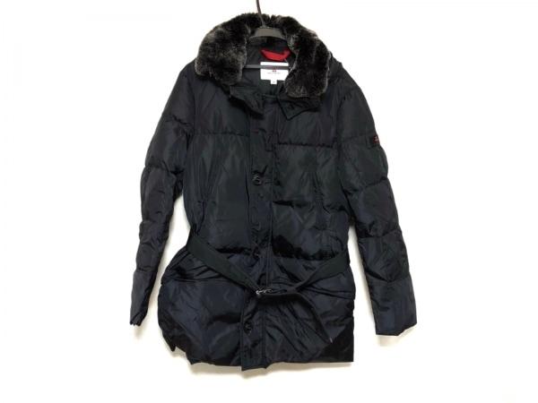 PEUTEREY(ピューテリー) ダウンコート サイズ48 XL メンズ美品  黒 ファー/冬物