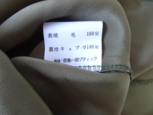 キミジマ ワンピース サイズ9 M レディース カーキ×アイボリー 肩パッド/BOUTIQUE