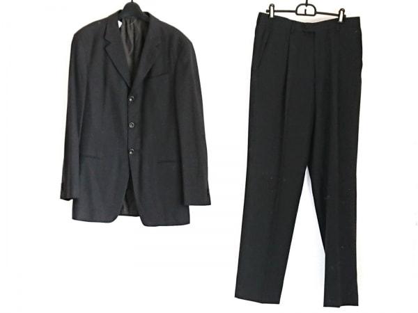 アルマーニコレッツォーニ シングルスーツ サイズ48 M メンズ美品  黒×ダークグレー