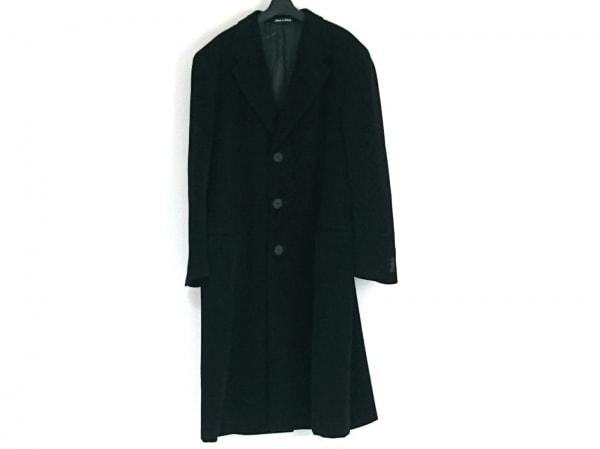 ジョルジオアルマーニ コート サイズ54 L メンズ 黒 ネーム刺繍/冬物/LE COLLEZIONI