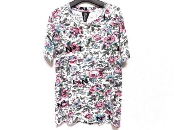 JOYRICH(ジョイリッチ) 半袖Tシャツ サイズS レディース 白×グリーン×マルチ 花柄