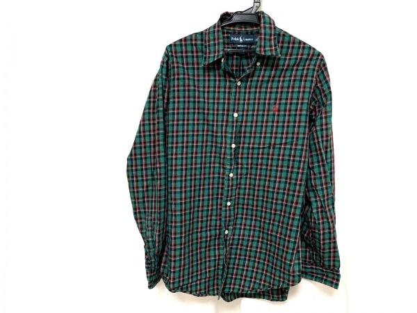 ラルフローレン 長袖シャツ サイズM メンズ美品  グリーン×レッド×マルチ