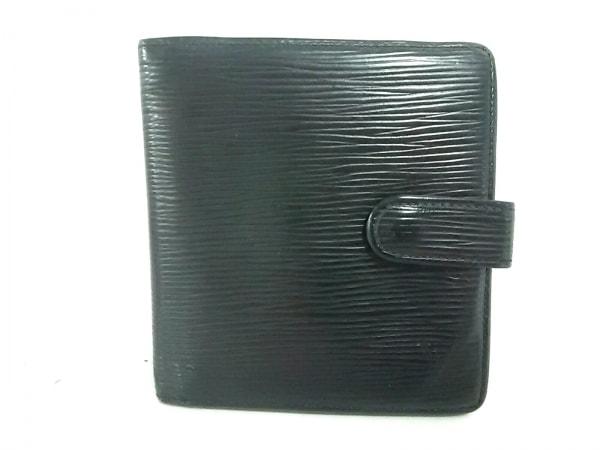 ルイヴィトン 2つ折り財布 エピ ポルト ビエ・コンパクト M63552 ノワール レザー