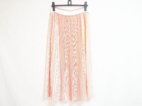 ヴィクトリアベッカム ロングスカート サイズ38(I) S レディース 白×オレンジ