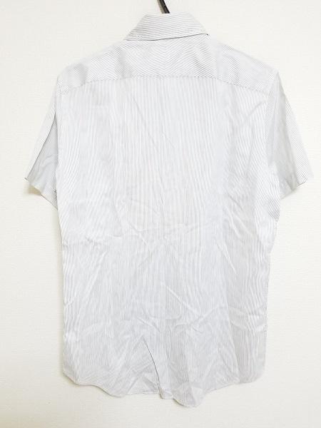 PaulSmith(ポールスミス) 半袖シャツ サイズM メンズ 白×黒 ストライプ