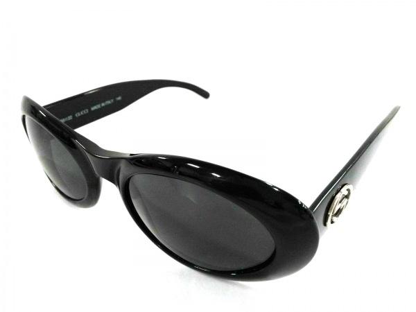 GUCCI(グッチ) サングラス ダブルG GG2400/N/S 黒×シルバー プラスチック×金属素材
