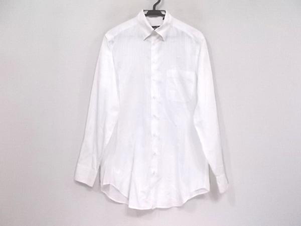GIORGIOARMANI(ジョルジオアルマーニ) 長袖シャツ サイズ38 M メンズ 白 ストライプ