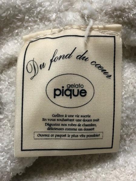gelato pique(ジェラートピケ) パーカー サイズF レディース アイボリー ジップアップ
