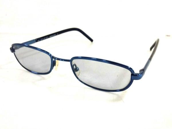 GUCCI(グッチ) メガネ美品  GG1648 クリア×ブルー プラスチック×金属素材