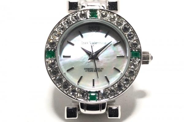 アイザックバレンチノ 腕時計美品  IVL-9100-3 レディース シェル文字盤 白