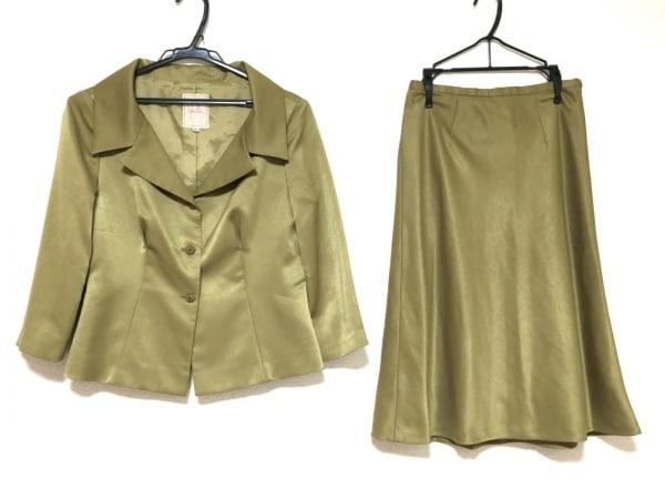 Sybilla(シビラ) スカートスーツ サイズ42 L レディース美品  グリーン