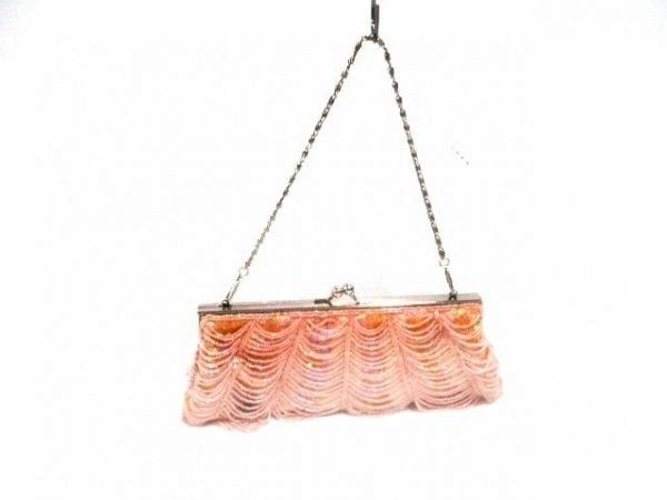 グレースイースタン ハンドバッグ ピンク×オレンジ×シルバー 金属素材×化学繊維